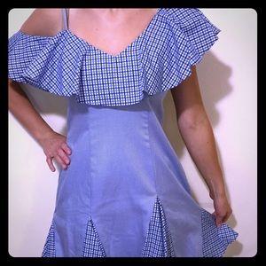 Unitedwood blue pleated dress
